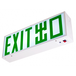 LED Emergency Exit Box - Single Sided